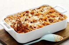 """Easy Italian Pasta Bake recipe - We call this pasta casserole """"Italian,"""" because it's cheesy with Parmesan and Mozzarella. And """"easy"""" because it takes just 20 minutes to prepare."""
