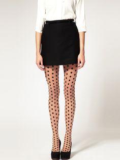 polka dot tights!