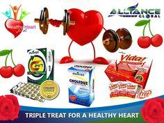 c24, vida and choleduz 3 product of aim global for the heart.
