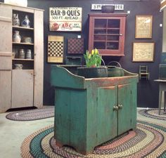 Green dry sink - from Country Treasures Antiques