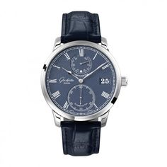 See the Glashütte Original Senator Chronometer watch - Movement : Manual-winding mechanical - Case : White gold Best Watches For Men, Luxury Watches For Men, Cool Watches, Omega Speedmaster, Glashutte Original, Gents Watches, Omega Watch, Rolex, White Gold