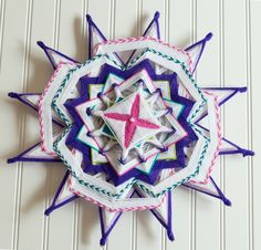 Inspired by the game candy land and all things sweet, meet Candy, a colorful starburst mandala.