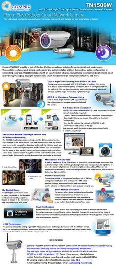 Compro TN1500W Plug n Play Outdoor Cloud Network Camera