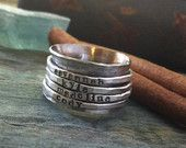Personalized stackable rings. MOTHER'S DAY 2014... I will have four of these, please.
