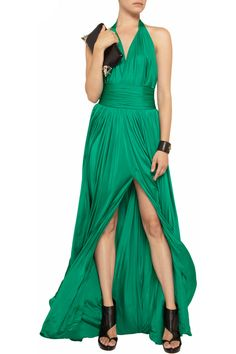 Balmain Satin-jersey gown - 60% Off Now at THE OUTNET