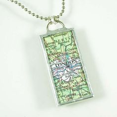 London Map Pendant by XOHandworks $20 - can't ever get lost!