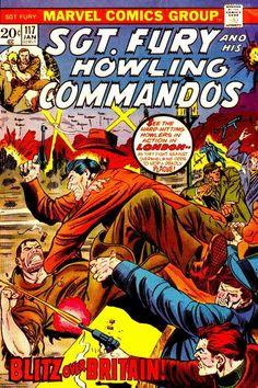 Sgt Fury and his Howling Commandos Vol 1 Marvel Comics Superheroes, War Comics, Baron Strucker, Joe Kubert, Comic Book Covers, Comic Books, Captain America And Bucky, The Howling, Kiss Of Death