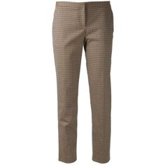 Pre-owned Theory Intrigued Pants ($119) ❤ liked on Polyvore featuring pants, capris, brown plaid, wool blend pants, theory pants, tartan trousers, brown crop pants and tartan plaid pants