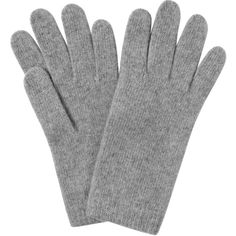 L.K. Bennett Gene Light Grey Cashmere Gloves ($55) ❤ liked on Polyvore featuring accessories, gloves and cashmere gloves