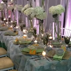 Beautiful table setting sample  a la our fabulous wedding planner!