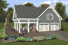 Two Car Garage Plans On The Side