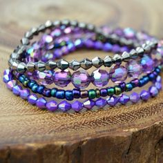 Layering bracelets are easy to make and fun to wear! Learn how to DIY your own stack of arm candy.