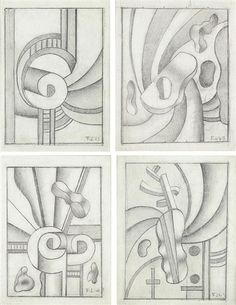 View QUATRE COMPOSITIONS By Fernand Léger; Pencil on paper; Access more artwork lots and estimated & realized auction prices on MutualArt. Abstract Drawings, Art Drawings, Pencil Drawing Images, Composition, Cubism Art, Park Art, Artist At Work, Painting & Drawing, Cool Art