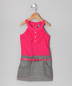 Gray & Pink Stephanie Dress - Infant, Toddler & Girls