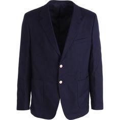 Prada Mens Trim Fit Textured Two-Button Blazer