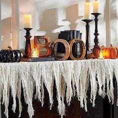 Classy Halloween, Halloween Mantel, Halloween Home Decor, Fall Halloween, Halloween Decorations, Halloween Buffet Table, Halloween Party, Farmhouse Halloween, Autumn Decorations
