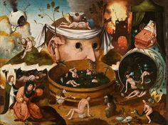 ヒエロニムス・ボス工房『トゥヌグダルスの幻視』1490-1500年頃 油彩、板 ラサロ・ガルディアーノ財団 ©Fundación Lázaro-Galdiano
