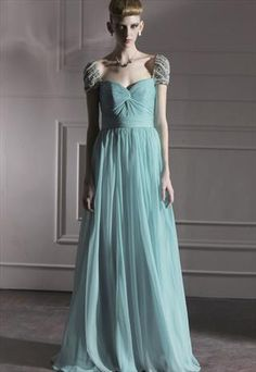 mint evening dress beaded sleeves