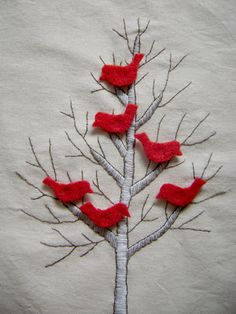 birds in tree quiet book page