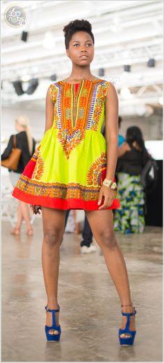 #AFWL2014 African Fashion Week London 2014, print dress