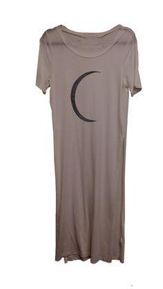 4th & Rose Half Moon Mauve Maxi Tee Dress