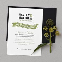 Baker Street Wedding Invitation Set