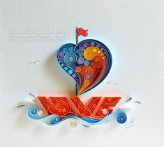 quilling paper, art paper, art, love, s - Quilled Paper Art Quilled Paper Art, Paper Quilling Designs, Quilling Paper Craft, Quilling Patterns, Diy Paper, Paper Crafts Wedding, Craft Wedding, Art Amour, Neli Quilling