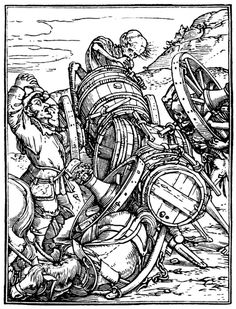 Artist: Holbein d. J., Hans, Title: »The Dance of Death« 48, The Waggoner, Date: 1524-26