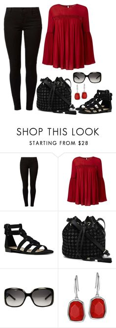 """""""Untitled #1385"""" by gallant81 ❤ liked on Polyvore featuring Dorothy Perkins, Nine West, Balmain and Gucci"""