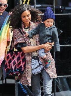 Thandie Newton's Big Apple Boy - http://www.celebritybabyscoop.com/2015/04/25/thandie-newtons-apple #BookerParker, #NYC, #ThandieNewton, #WomenintheWorldSummit