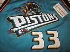 For Sale - GRANT HILL #33 DETROIT PISTONS SILK SCREEN NBA BASKETBALL JERSEY SZ 48 XL - See More At http://sprtz.us/PistonsEBay