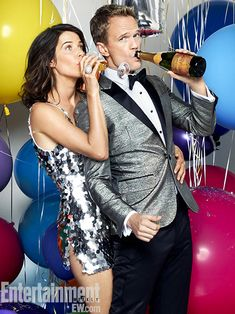 Cobie Smulders & Neil Patrick Harris ~ How I Met Your Mother Season 9 Portraits ~ Photographed by Justine Stephens ~ August 2013: EW Portraits #ewportraits