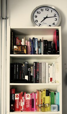 I love books organized by color!