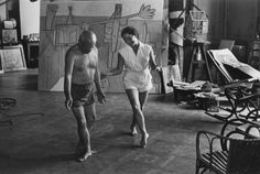 Picasso dancing in his studio in Cannes with his wife Jacqueline Roque (David Douglas Duncan)