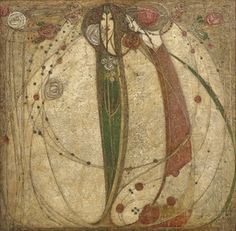 Margaret Macdonald Mackintosh - The Heart of the Rose.  Glasgow Art Nouveau Style.  A widely unknown artist, she was a predecessor and also a powerful influence on Klimt's work.