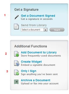 """""""Signing"""" document made easy with Adobe EchoSign!  Get a signature in seconds!"""