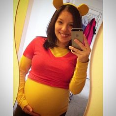 Nothing's a better substitute for Winnie the Pooh's honey-filled belly than a baby bump!                   ...