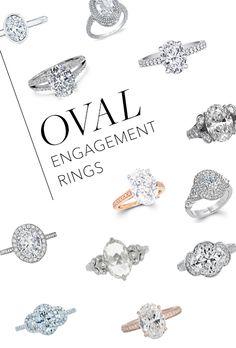 I love oval diamond engagement rings!