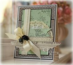 Card by Andrea Ewen using Fairy Tales from Verve.  #vervestamps