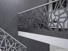 Modern corridor, hallway & stairs by homify modern iron/steel Wooden Staircase Railing, Modern Stair Railing, Modern Stairs, Staircase Design, Modern Fence, Balcony Grill Design, Balcony Railing Design, Stair Paneling, Front Gate Design
