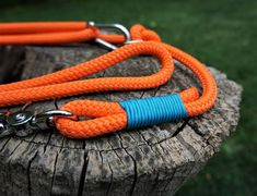 Rope Dog Leash, Climbing Rope, Collar And Leash, Big Dogs, Handmade Shop, Leather Cord, Snug Fit, Vintage Items, Neon