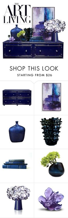 """Untitled #334"" by riell-projecthome ❤ liked on Polyvore featuring interior, interiors, interior design, home, home decor, interior decorating, Worlds Away, Grandin Road, Howard Elliott and Venini"