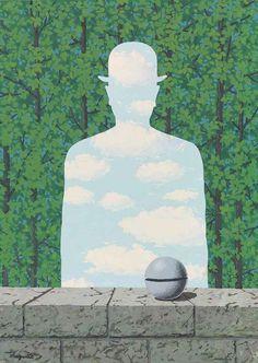 thunderstruck9:  René Magritte (Belgian, 1898-1967), La belle promenade, 1965. Gouache on paper, 41.8 x 30 cm.
