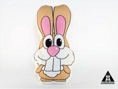 Hase Osterhase Kaninchen Stoffapplikation beige von ASTROKATZE auf DaWanda.com