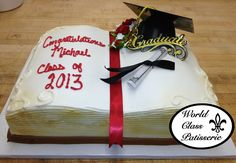 Congrats grad! This World Class Patisserie Cake is available exclusively at Saker ShopRite locations. Call to schedule a consultation today! PHONE: 732-845-4929 ext. 0