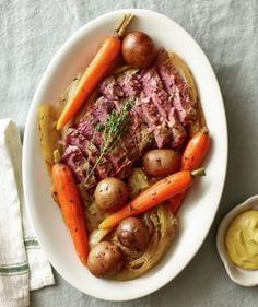 Classic Slow-Cooker Corned Beef and Cabbage | Whether you're on a low-carb diet or trying to fuel up for a big or particularly busy day, feel more satisfied with one of these delicious and healthy high-protein recipes. Even if you're not concerned about replenishing your body after a workout or sticking to a Paleo-like plan, it's smart to be sure your family's getting enough of this critical building block, which helps our body build and repair tissue. This lineup isn't all red meat and…