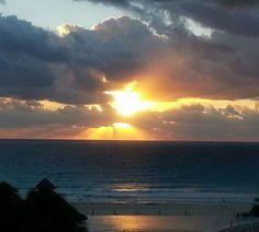 Last Cancun sunrise before heading home.