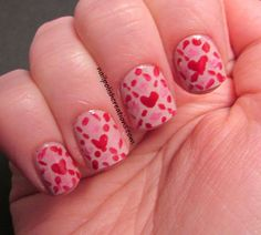 Nail Polish Creations: Valentine Nail Art Challenge: Lace or Fabric Make sure to check out http://www.thepolishobsessed.com for nail art, tutorials, giveaways and more!