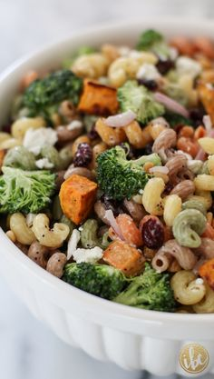 Fall Harvest Pasta Salad - fall salad recipe via inspiredbycharm.com