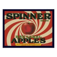 a fruit crate label for spinner apples c these labels were used to identify unique brands